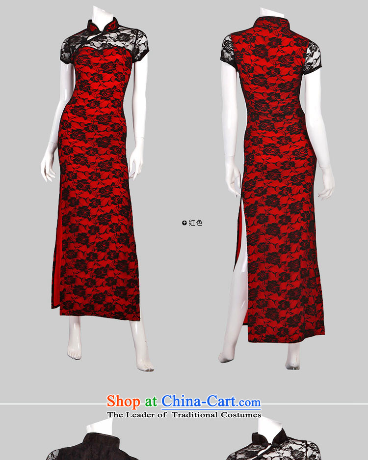 The fire of sexy improved cheongsam dress long temperament retro lace evening dresses of the forklift truck girls high toasting champagne wedding services nightclubs female autumn and winter YD8831 black聽M(80-105 catty) Picture, prices, brand platters! The elections are supplied in the national character of distribution, so action, buy now enjoy more preferential! As soon as possible.