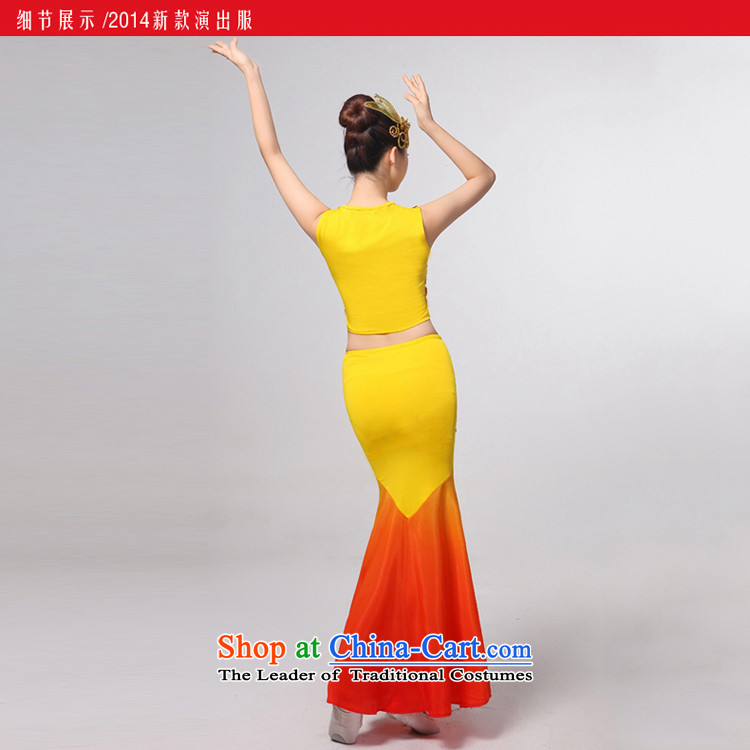 I should be grateful if you would have let the dai heung Arts Dance costumes 2015 Yunnan ethnic minorities on the peacock dance piece crowsfoot skirt will Sau San yellow聽S picture, prices, brand platters! The elections are supplied in the national character of distribution, so action, buy now enjoy more preferential! As soon as possible.
