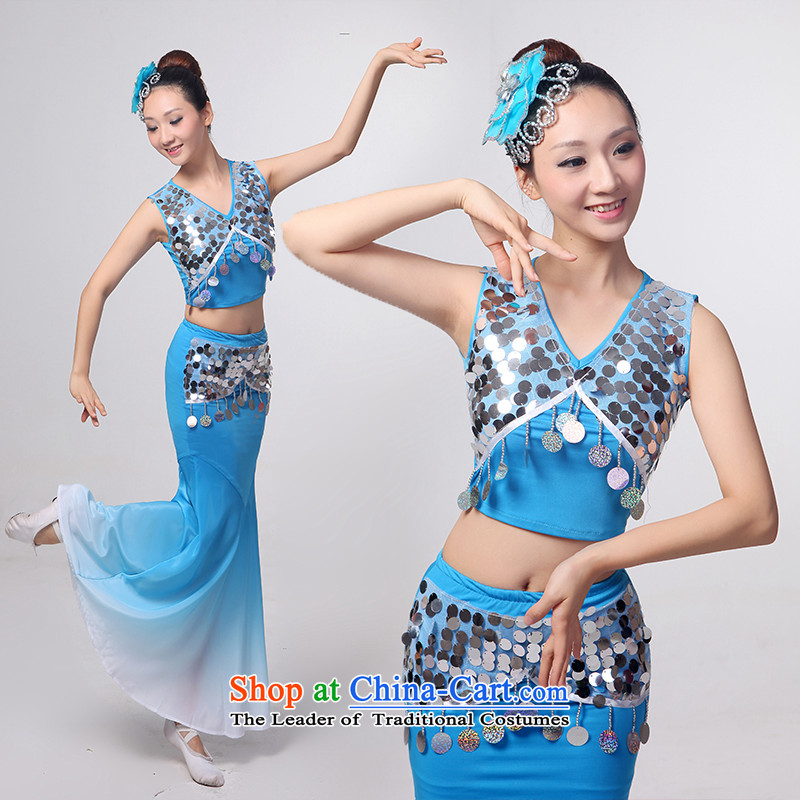 I should be grateful if you would have let the dai heung Arts Dance costumes 2015 Yunnan ethnic minorities on the peacock dance piece crowsfoot skirt will Sau San yellow聽incense arts dreams I should be grateful if you would arrange S, shopping on the Inte
