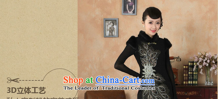 Dan smoke winter clothing cheongsam dress Tang Dynasty Chinese improved gross collar Washable Wool qipao plus COTTON SHORT? cheongsam dress dress RED聽M picture, prices, brand platters! The elections are supplied in the national character of distribution, so action, buy now enjoy more preferential! As soon as possible.