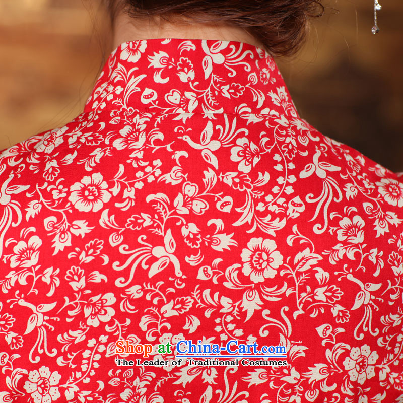 Butterfly Lovers 2015 Autumn new) disk detained Chinese improvements retro qipao shirt China Wind, Tang blouses 49150 navy blue new products for the pre-sale of聽S, 339,600 12.30 land has been pressed shopping on the Internet