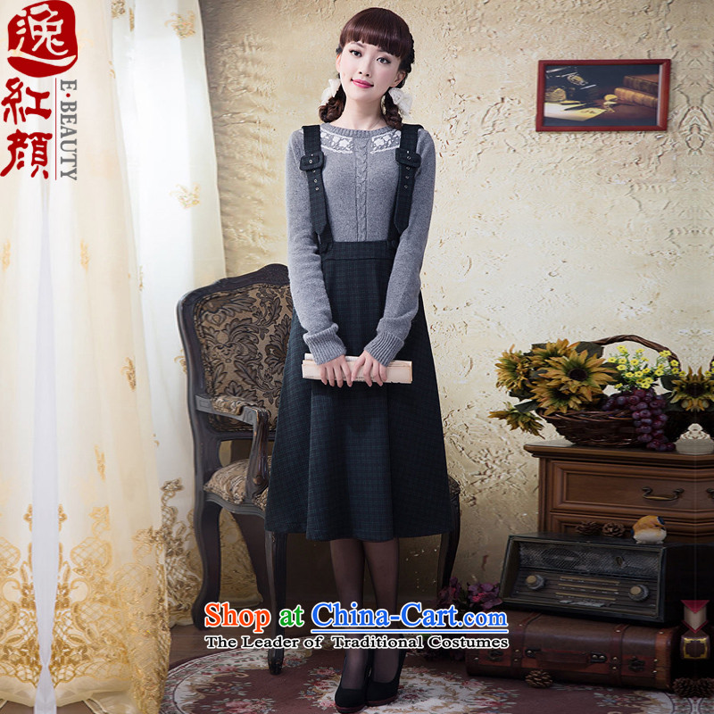Recalling that girls lady Yat original autumn replacing temperament wool gross body harness? winter large skirt 2015 Doi Green燤
