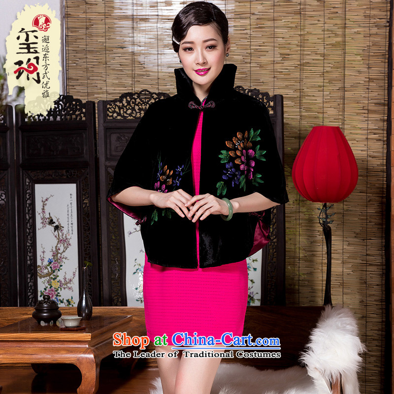 Royal Seal of Tang Dynasty 2014 shawl embroidered jacket elegant hand-painted Tang dynasty autumn and winter female qipao shawl color picture scouring pads燣