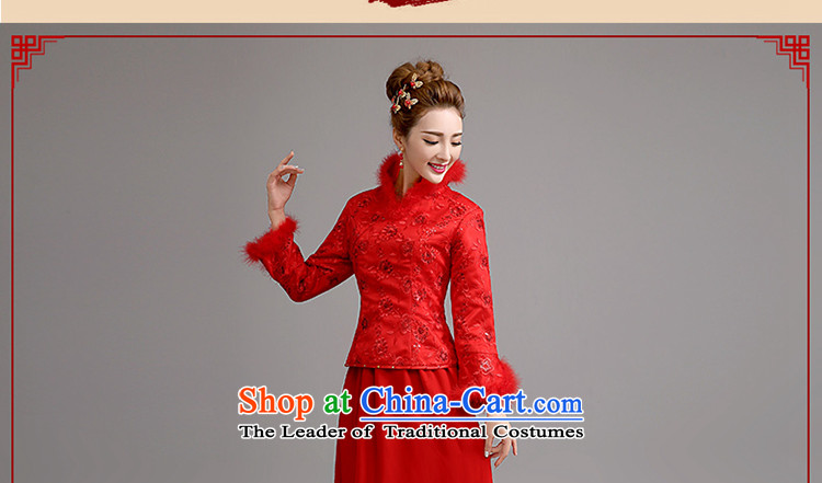 At the beginning of Castores Magi bride stylish new 2015 long-sleeved winter marriage qipao gown thickened the winter bows serving long red red M code picture, prices, brand platters! The elections are supplied in the national character of distribution, so action, buy now enjoy more preferential! As soon as possible.