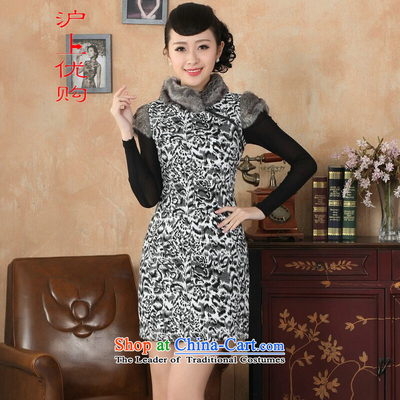 Shanghai, optimize IPO Chinese improved cheongsam dress short skirt for winter new superior gross?   picture color�36/L Cheongsam