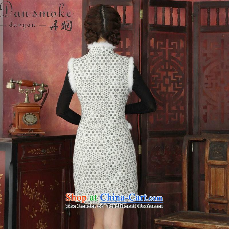 Dan Smoke Cheongsam Dress Tang Dynasty Chinese Autumn And Winter
