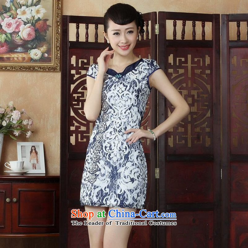 158 Jing Lady Jane Nga embroidery cheongsam dress summer improved qipao white highstreet Sau San dresses?D0233?M