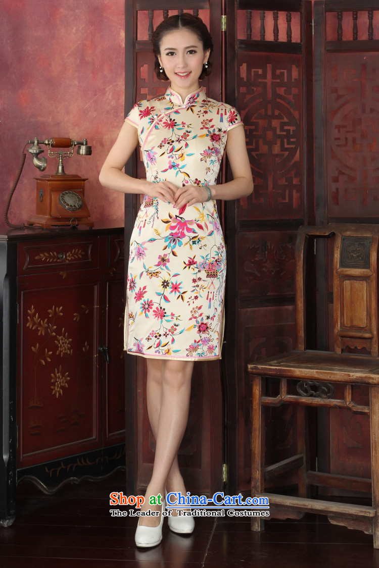 Floral qipao female western style elegant qipao herbs extract routine banquet silk cheongsam dress聽1033# annual toner suit聽2XL Photo, prices, brand platters! The elections are supplied in the national character of distribution, so action, buy now enjoy more preferential! As soon as possible.