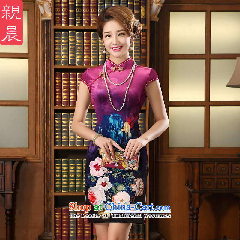The new summer and fall of 2015 wedding dress wedding wedding Kim scouring pads in mother older cheongsam dress dresses rose red�2XL
