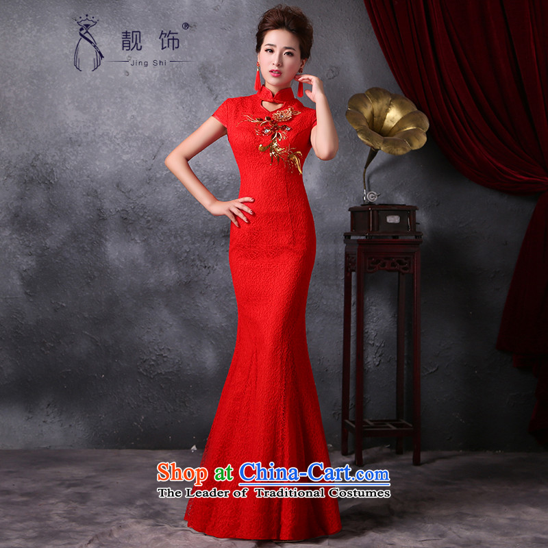 The new 2015 International Friendship cheongsam long improved crowsfoot qipao marriages bows Services Red Sau San qipao  M