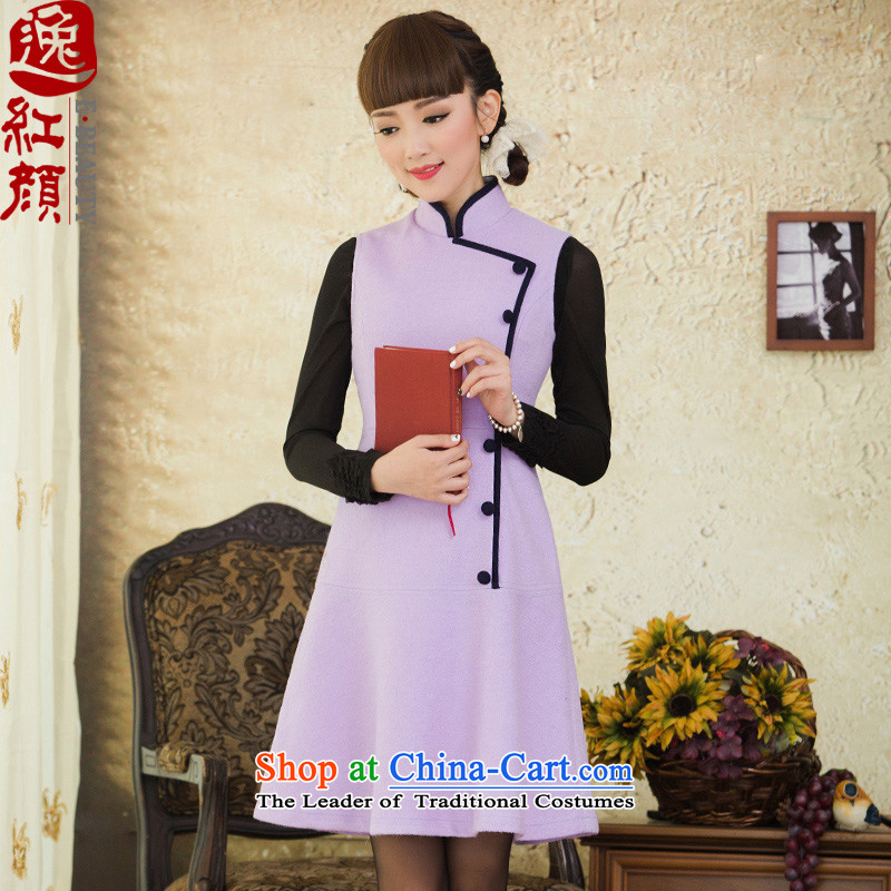 A Pinwheel Without Wind incense zebina autumn Yat replacing temperament sleeveless gross? winter skirt wear the vest skirt 2015 lady clove color燲L
