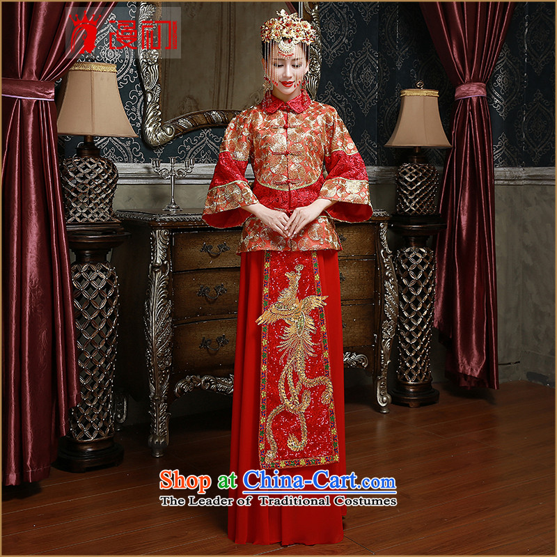 In the early 2015 New Man Soo Wo Service marriages bows services use the dragon and the red retro Chinese Dress�Code Red M