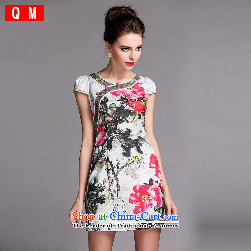 The end of the light (QM) Republic of Korea wind qipao improved stylish skirt� XWFQF140509�picture color�S