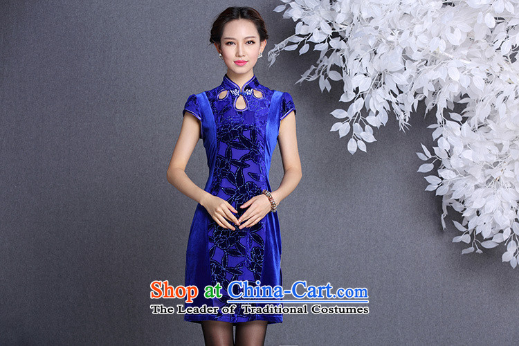 The end of the light (QM) Stylish retro wool stitching improved short-sleeved short qipao XWGQF1309-12 picture color pictures, prices, XL brand platters! The elections are supplied in the national character of distribution, so action, buy now enjoy more preferential! As soon as possible.