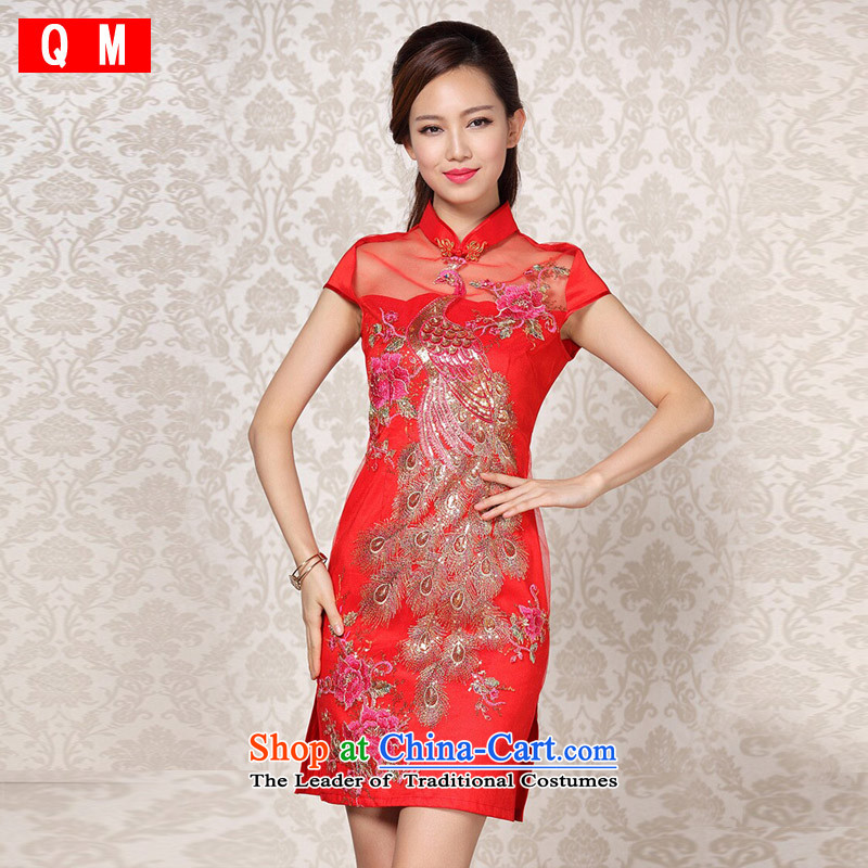 The end of the light _QM_ Improved stylish gauze sequin embroidery on wedding dresses聽XWG short QF13-6088聽picture color聽XXL