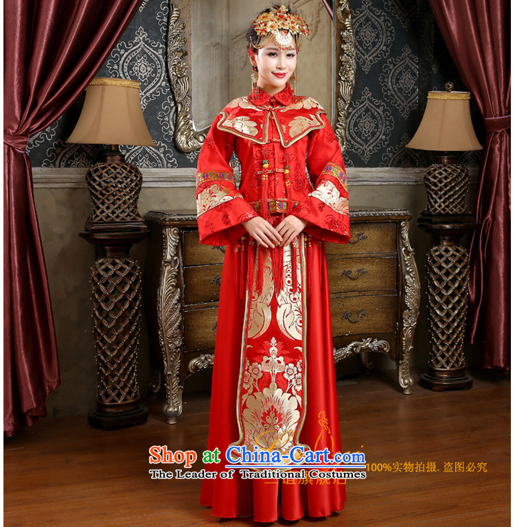 In 2015 winter long-sleeved new friends of qipao skirt for winter marriages bows dress the cotton waffle long-soo Wo Service Code Red M 2 feet pictures, waist price, brand platters! The elections are supplied in the national character of distribution, so action, buy now enjoy more preferential! As soon as possible.