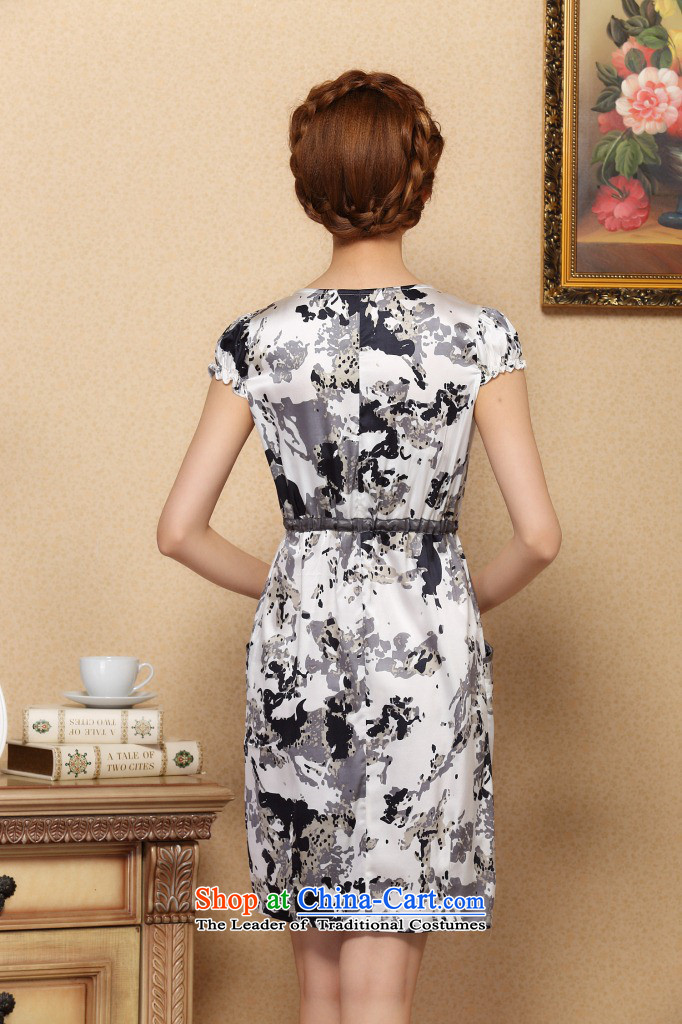 Dan Xia, women smoke graphics thin dresses elegant Silk Cheongsam improvements sauna short-sleeved silk dresses figure color pictures, prices, XL brand platters! The elections are supplied in the national character of distribution, so action, buy now enjoy more preferential! As soon as possible.