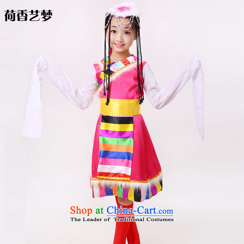 I should be grateful if you would have the Champs Elysees arts dreams 2015 new children dance performances to possession of water services cuff Children Folk Dance Show stage costumes HXYM0041 Red�0