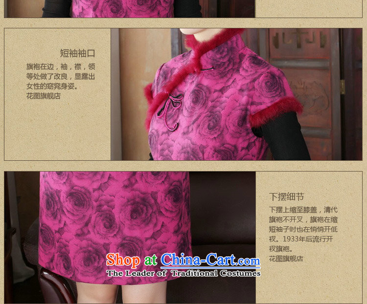 Dan smoke cheongsam dress Tang dynasty new autumn and winter Chinese collar short, improved gross cheongsam dress is stylish dress figure color聽pictures, prices, XL brand platters! The elections are supplied in the national character of distribution, so action, buy now enjoy more preferential! As soon as possible.