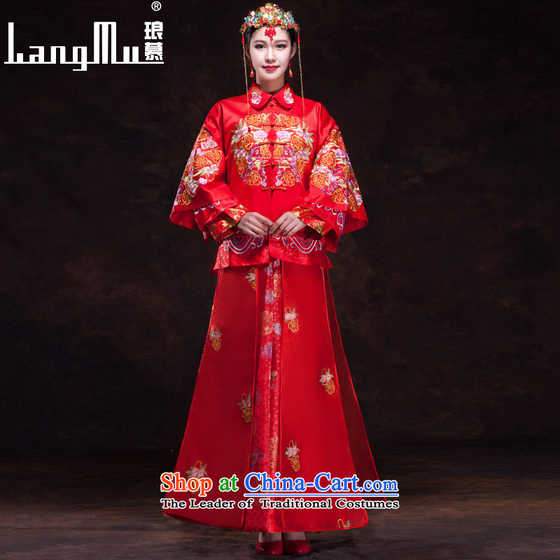 The new 2015 Luang wedding services-soo Wo Service bows Tang Dynasty Chinese dragon and the use of long-sleeved marriage spring_summer_?S