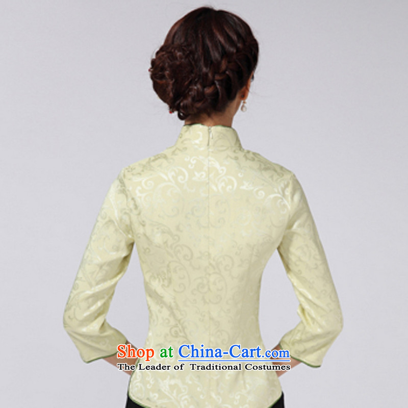 With a聽new 2015 the Chinese Tang dynasty Chinese 7 Stylish retro improved national cuff wind jacket women聽have XL, Green Monogatari (wuyouwuyu) , , , shopping on the Internet