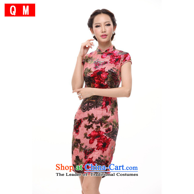 At the end of light silk cheongsam dress suit bows of nostalgia for the marriage herbs extract improved stylish autumn cheongsam dress female燲WG爌ink燤