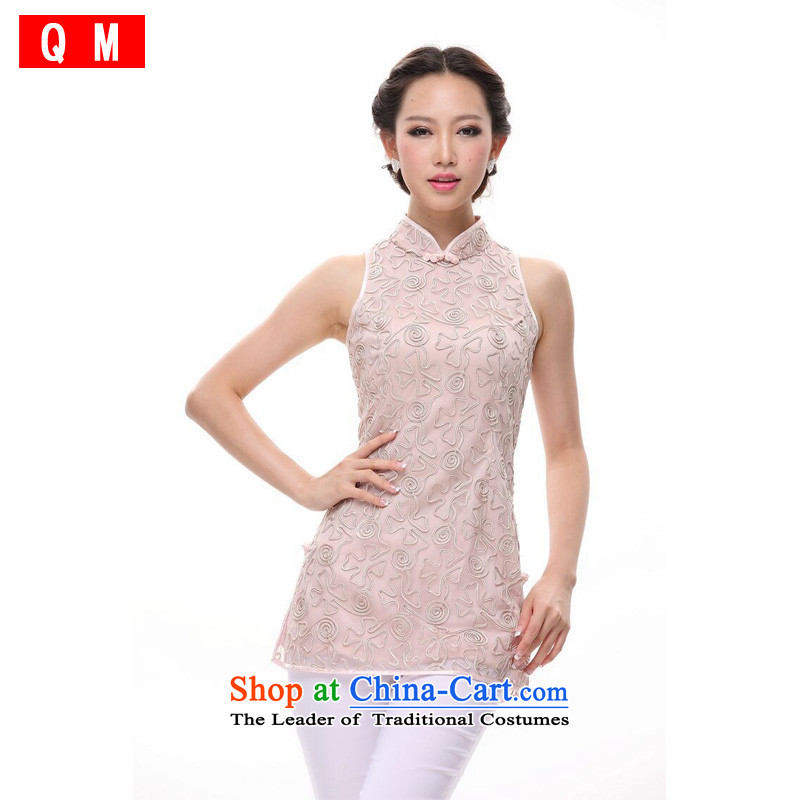 The end of the Tang dynasty retro-Chinese qipao) Plate flower Tang blouses?XWG?pink?S