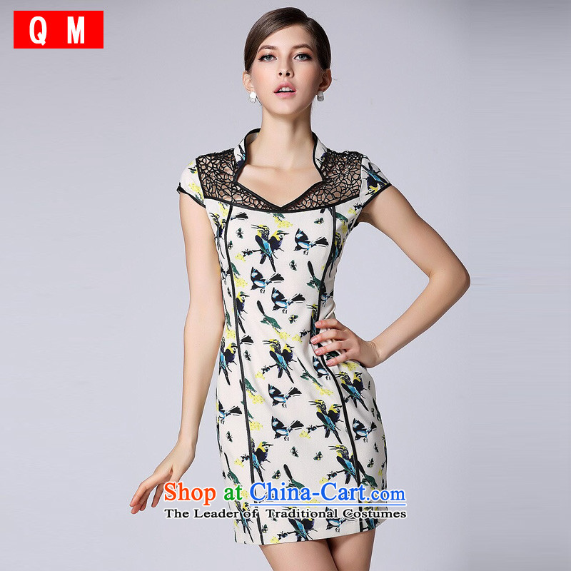 At the end of light and stylish cheongsam dress improved short-sleeved engraving no燾olor photo of Qipao XWGQF140401'S燲XL