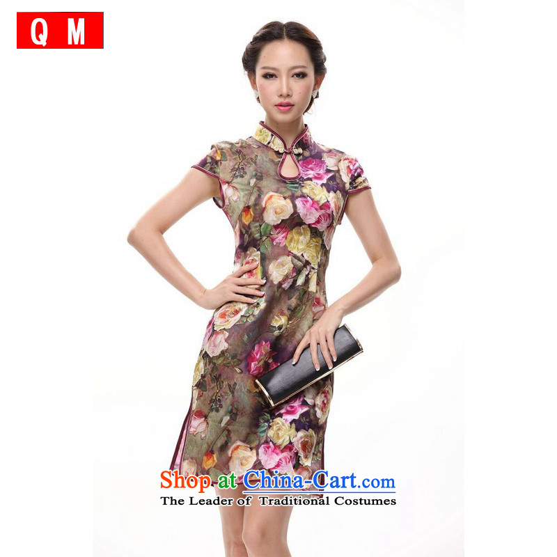 At the end of light heavyweight Chinese qipao improved Stylish retro燲WGQP12018-15 summer爌icture color燬