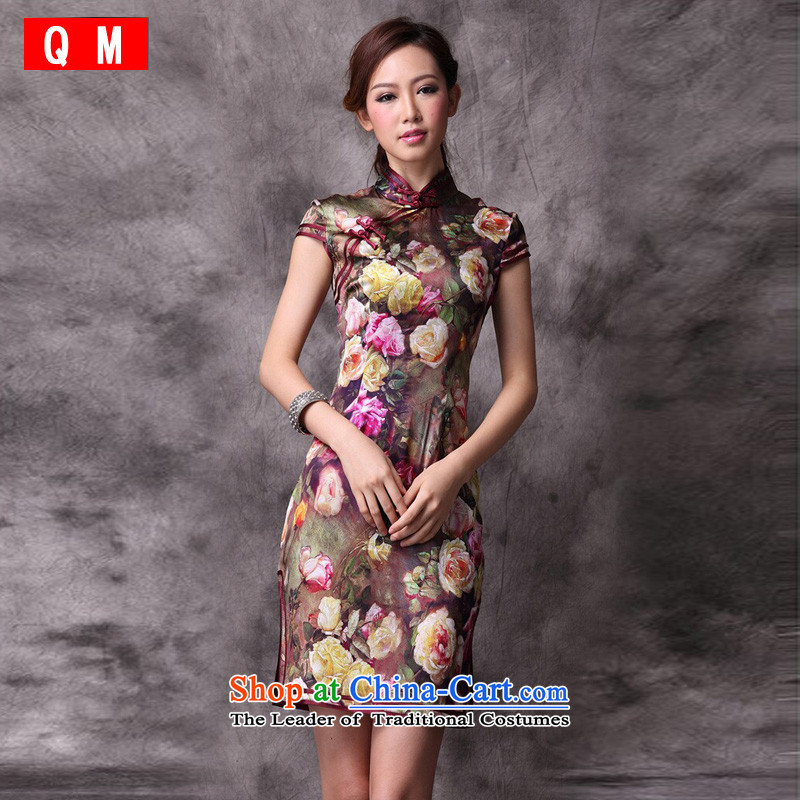 The end of the day-to-day qipao qipao light skirt women improved?color picture XWGQP12018-22 summer stylish?XL