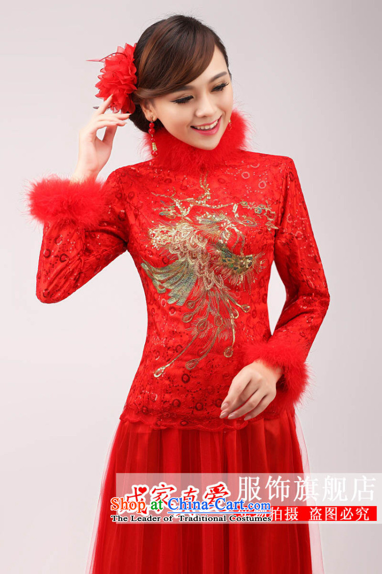 The knot true love marriages qipao 2015 new stylish Chinese improved bows long long-sleeved clothing red dress for Winter Female RedL picture, prices, brand platters! The elections are supplied in the national character of distribution, so action, buy now enjoy more preferential! As soon as possible.