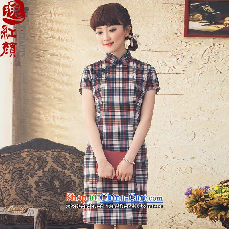 A Pinwheel Without Wind flow following retro Yat short of qipao winter clothing stylish daily cheongsam dress improved 2015 new rouge color?M