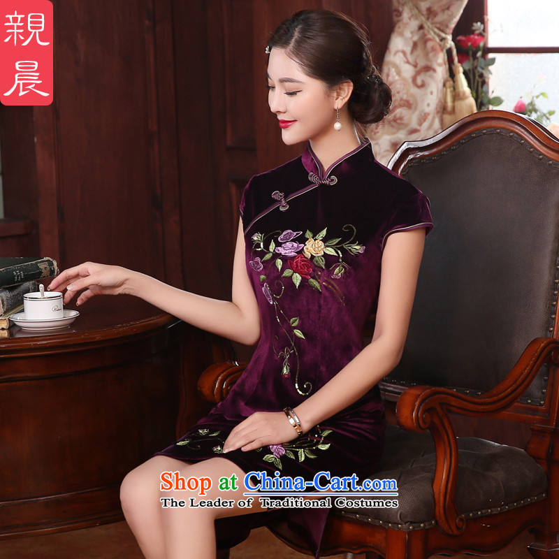 Wedding banquet, wedding dresses skirt pro-am scouring pads installed MOM dresses in short, Ms. older�L- waist 80 cm