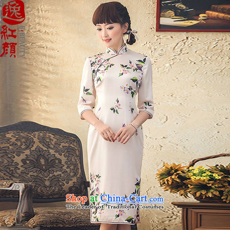 A Pinwheel Without Wind data in Yat long silk cheongsam dress spring and summer load new 2015. The Republic of Korea qipao improved-ho of the Cuff�L