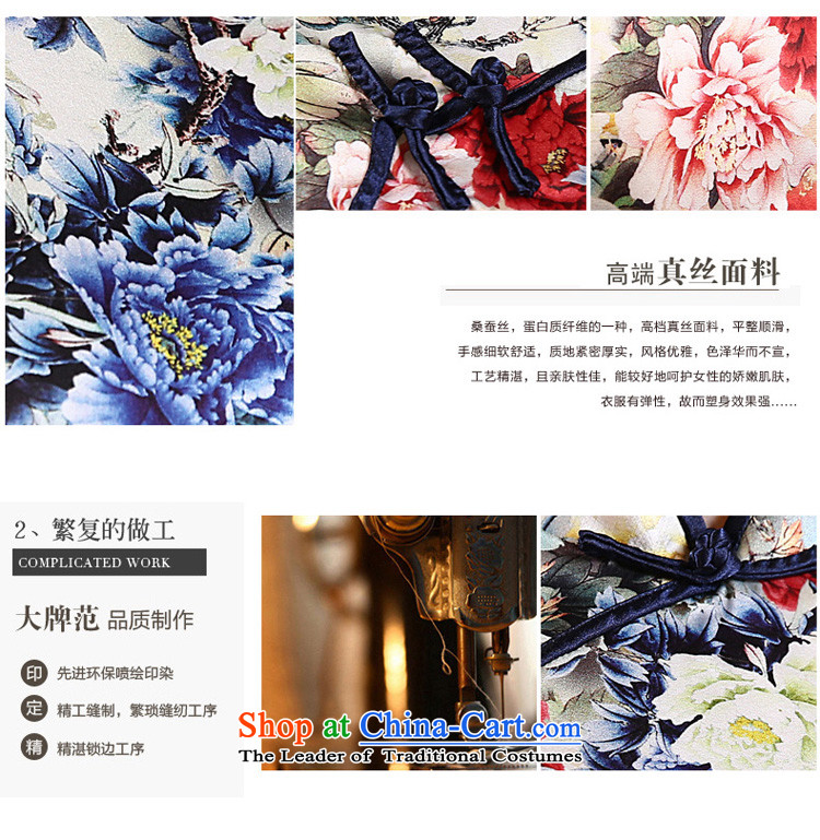 The new 2015 pro-morning in summer and autumn day-to improve long silk retro upscale herbs extract Sau San cheongsam dress photo color pictures, 83cm 2XL- waist price, brand platters! The elections are supplied in the national character of distribution, so action, buy now enjoy more preferential! As soon as possible.
