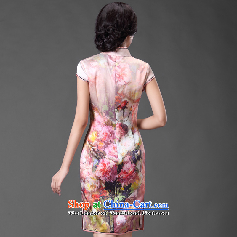 Chinese classic 2015 spring and summer-short of improved herbs extract cheongsam dress Sau San temperament retro heavyweight Silk Cheongsam Suit聽M, China Ethnic Classic (HUAZUJINGDIAN) , , , shopping on the Internet