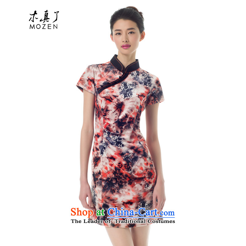 The Chinese Tang wood Really replace spring 2015 new improved qipao stylish girl skirt 43031 Sau San dark yellow 12�L