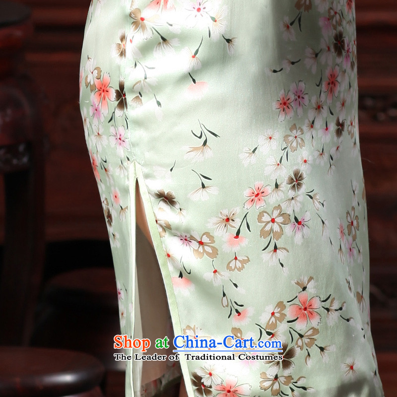 The Butterfly Lovers autumn 2015 new stylish improved Sau San herbs extract silk cheongsam dress480 2M Butterfly Lovers cherry blossoms Grass , , , shopping on the Internet