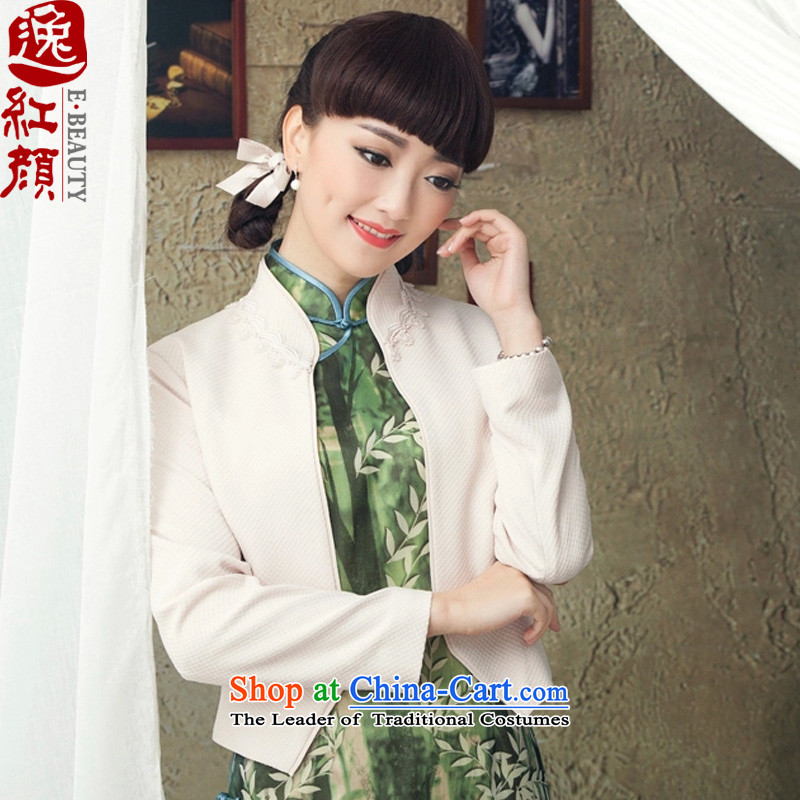 A Pinwheel Without Wind cloud SONG IL�15 spring and autumn, long-sleeve sweater with short women of ethnic Chinese Mock-Neck Shirt Sau San white燬