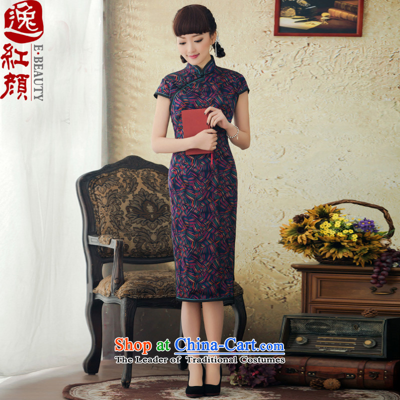 A Pinwheel Without Wind-dust escapes stamp Heung-cloud yarn qipao improved stylish new spring and summer 2015, Retro cheongsam dress SAIKA?S