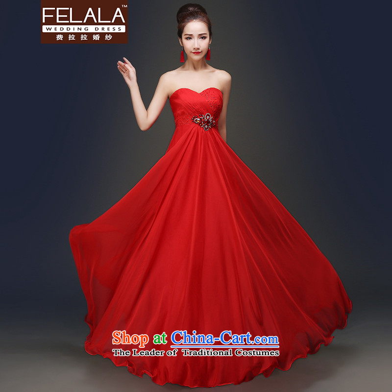 Ferrara聽in spring and summer 2015 new stylish anointed chest bride bows services for pregnant women, Top Loin dress dress RED聽M聽Suzhou Shipment