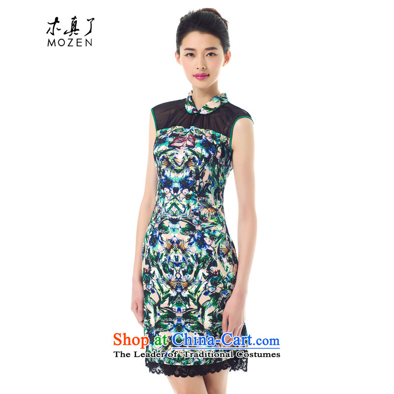 The Tang Dynasty outfits wood really spring 2015 new stylish dress improved cheongsam dress female skirt 42942 Sau San 01 black?S
