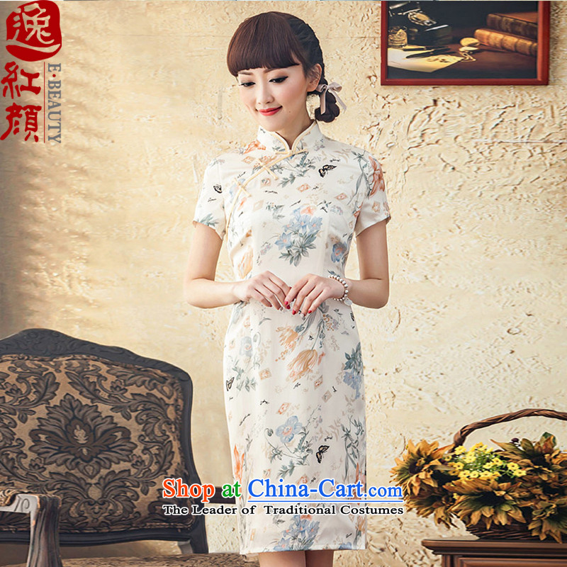 A Pinwheel Without Wind the new Yat Silk Cheongsam, improvement of stamp short stylish new spring and autumn day-to-day cheongsam dress suspiciously聽L