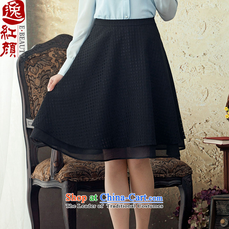 A Pinwheel Without Wind Summer Dream in spring and autumn Yat 2015 ethnic body skirt new A-skirt Fashion girl skirt Sau San Chinese ink Black M