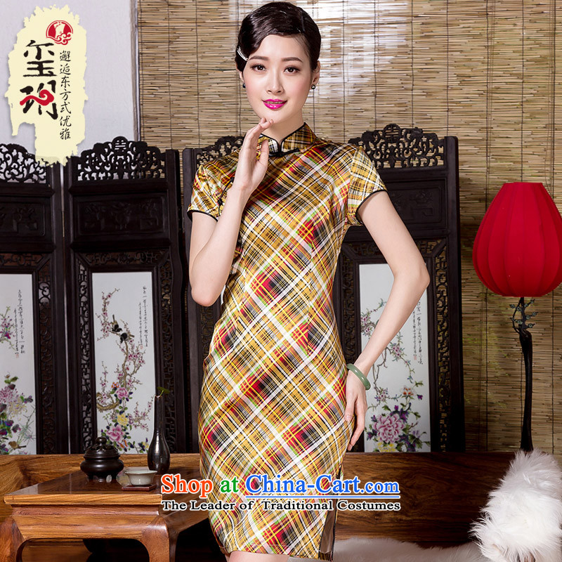 The seal of the spring and summer of 2015, the Republic of Korea, New Style sub heavyweight silk cheongsam dress qipao daily Ms. banquet picture color燤
