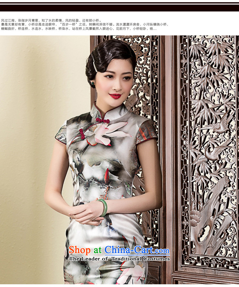 The Seal of 2015 ink Lotus Silk Cheongsam daily, Sau San elegance cheongsam dress improved picture color pictures, prices, XXL brand platters! The elections are supplied in the national character of distribution, so action, buy now enjoy more preferential! As soon as possible.
