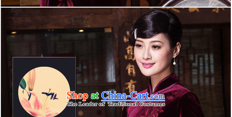The Seal of upscale scouring pads nail Pearl 2015 hand-painted daily cheongsam look elegant improved national cheongsam dress聽E399 Dutch blue聽L purple blue and red 20 days pre-sale prices, pictures, brand platters! The elections are supplied in the national character of distribution, so action, buy now enjoy more preferential! As soon as possible.