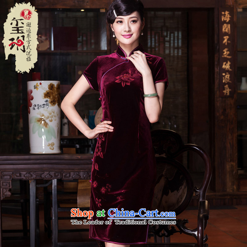 The Seal of upscale scouring pads nail Pearl 2015 hand-painted daily cheongsam look elegant improved national cheongsam dress聽E399 Dutch blue聽L purple blue-red pre-sale 20 days, and seal of , , , shopping on the Internet