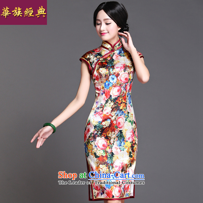 Chinese New Year 2015 Classic Serb republic of korea wind Ms. daily Tang Gown cheongsam dress retro improved Temperament spent offering Sau San燣