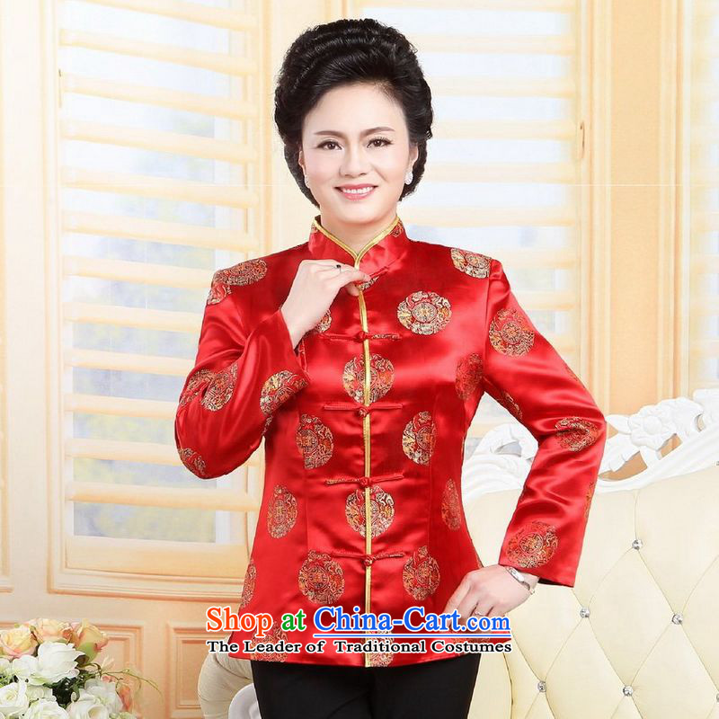 158 Jing in older women's blouses too Shou Tang wedding services will red聽L